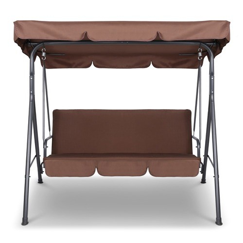Inspiration about 3 Seater Outdoor Canopy Swing Chair Within 3 Seater Swings With Frame And Canopy (#14 of 20)