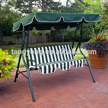 Inspiration about 3 Seater Steel Frame Patio Swing Chair With Cushions And Canopy – Buy 3  Seater Swing Chair,steel Frame Swing Chair,swing Chair With Cushions And In 3 Seater Swings With Frame And Canopy (#4 of 20)