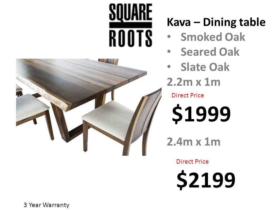 Inspiration about 3 Year Warranty. Starburst Table Seared Oak Smoked Oak 2.4Mx Regarding Most Current Dining Tables In Smoked Seared Oak (#12 of 20)