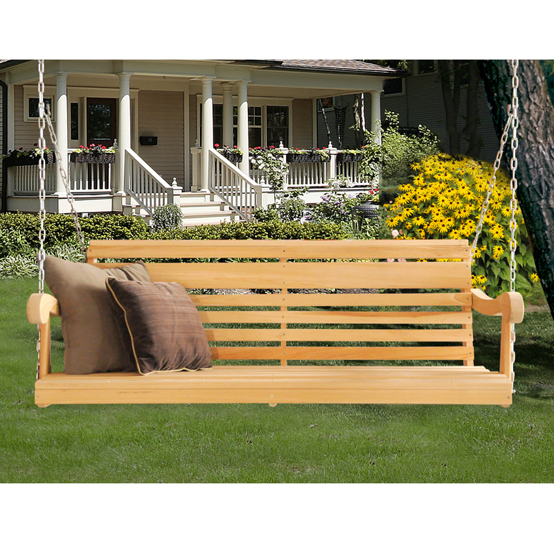 Inspiration about 5' Classic Grandpa Swing (Cypress) – Hershy Way For Contoured Classic Porch Swings (#17 of 20)