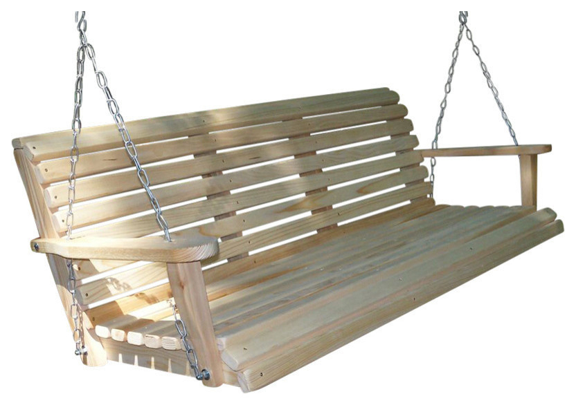5' Cypress Regular Swing, Water Seallouisiana Cypress Pertaining To Contoured Classic Porch Swings (View 8 of 20)