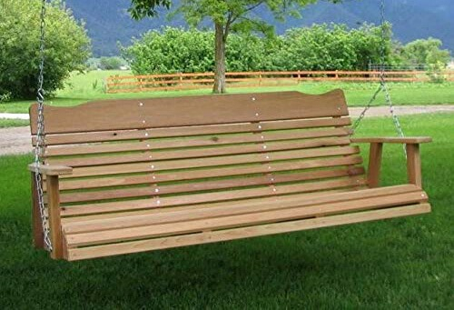5 Natural Cedar Porch Swing Amish Crafted Review Within 2 Person Natural Cedar Wood Outdoor Swings (View 13 of 20)