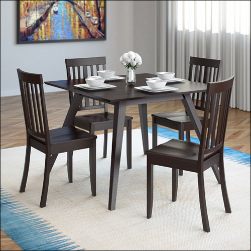 Inspiration about 5 Piece Atwood Square Dining Table & Chairs Set – Rich Cappuccino Regarding Most Up To Date Atwood Transitional Square Dining Tables (#4 of 21)