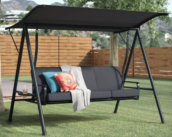 6+ Best Outdoor Patio Swings With Canopy Reviews 2020 Intended For Porch Swings With Canopy (#1 of 20)