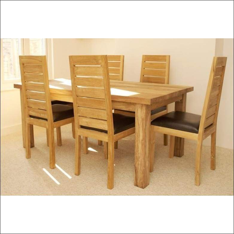 6 Seater Retangular Wood Contemporary Dining Tables Regarding Most Popular Indian Teak Wood Contemporary Dining Table Set Tdt (View 18 of 20)