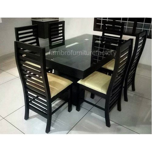 6 Seater Wooden Dining Table Set Within Favorite 6 Seater Retangular Wood Contemporary Dining Tables (View 2 of 20)