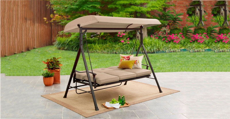 7 Best Porch Swing With Stand To Beautify Your Garden (2019 With Regard To Outdoor Pvc Coated Polyester Porch Swings With Stand (View 9 of 20)