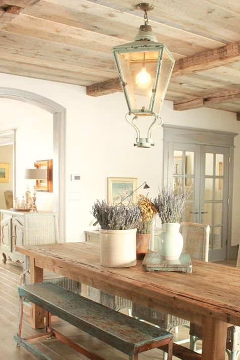 8 French Country Kitchen Decorating Ideas With Blues With Favorite Provence Accent Dining Tables (#3 of 20)