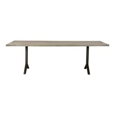 """Inspiration about 98"""" L Dining Table Solid Oak Wood Top Central Metal Inlay In Recent Dining Tables In Smoked/seared Oak (#16 of 20)"""