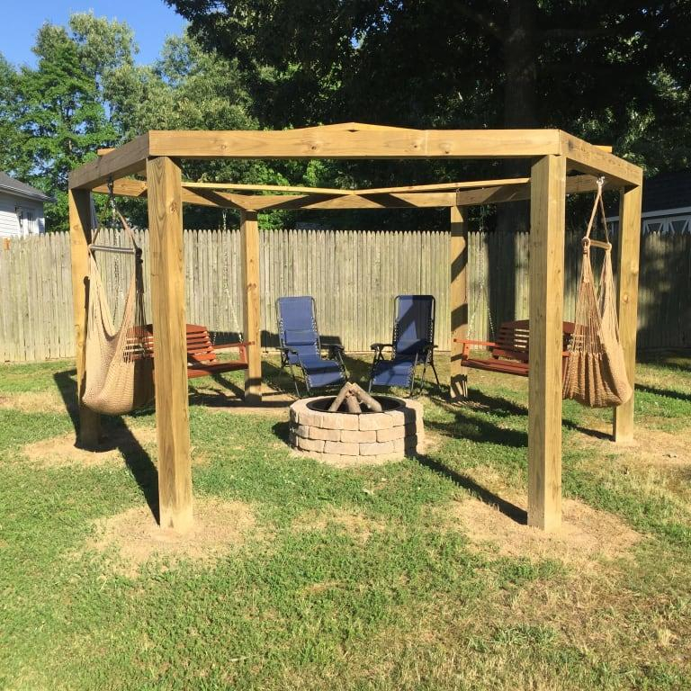 A & L Furniture Western Red Cedar Classic Curved Back Intended For A4 Ft Cedar Pergola Swings (View 18 of 20)