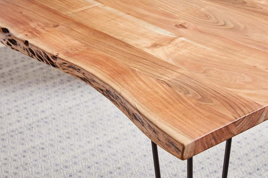 Acacia Dining Tables With Black Legs With Regard To Latest Industrial Natural Acacia Dining Table (View 11 of 20)