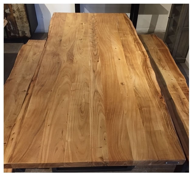 Acacia Dining Tables With Black Rocket Legs For Well Known Zen Live Edge 72 Inch Dining Table (acacia – Rocket Legs) (View 3 of 20)