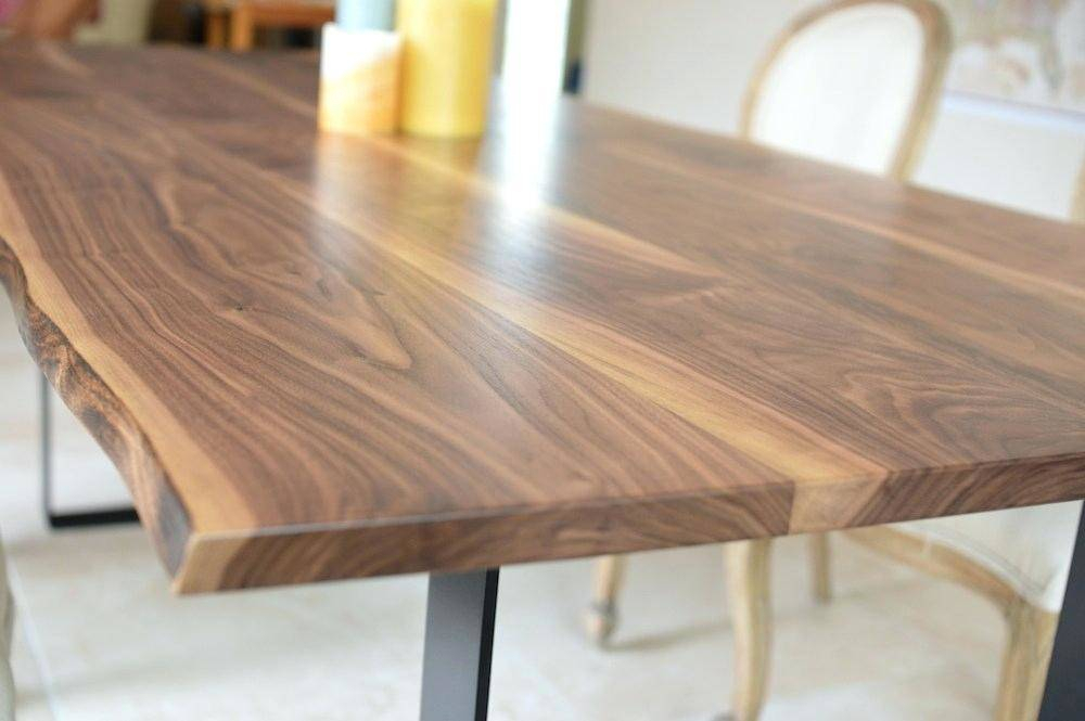Acacia Dining Tables With Black Rocket Legs In Most Up To Date Winsome Solid Natural Wood Dining Table Black Walnut (View 14 of 20)