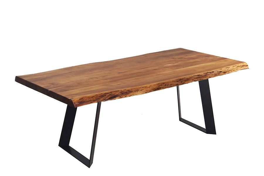 Popular Photo of Acacia Dining Tables With Black Victor Legs