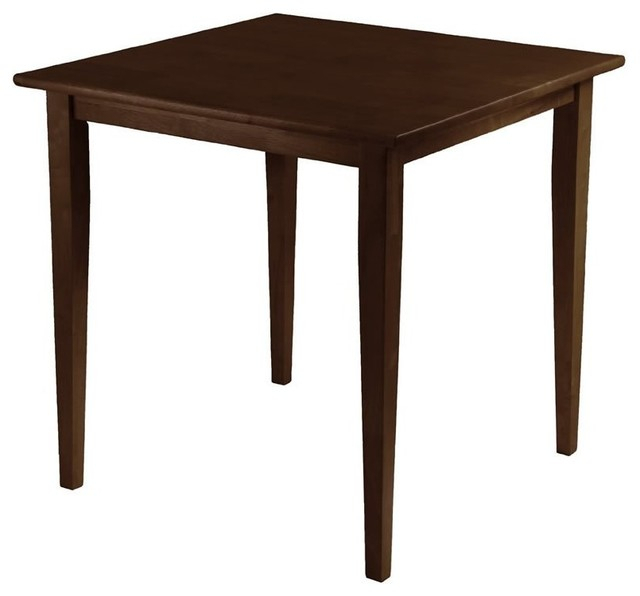 Alamo Transitional 4 Seating Double Drop Leaf Round Casual Dining Tables Pertaining To Best And Newest Winsome Wood Groveland Square Dining Table, Shaker Leg, Antique Walnut  Finish (#2 of 20)
