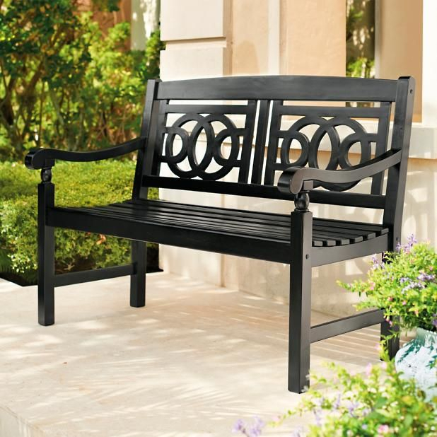 Amalfi Bench In 2019 | Outdoor Decor, House With Porch With Regard To Iron Grove Slatted Glider Benches (View 1 of 20)