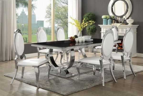 Antoine Rectangular Table W/ 6 Chairs (View 2 of 20)
