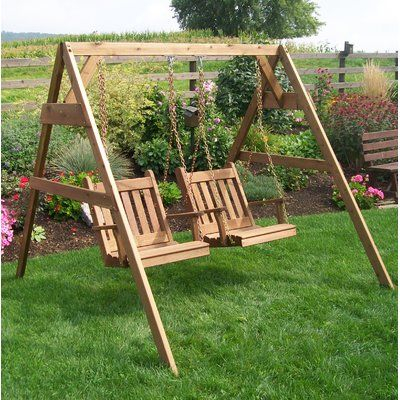 Arianna Hardwood Hanging Porch Swing With Stand | Stuhl With Regard To Porch Swings With Stand (#3 of 20)