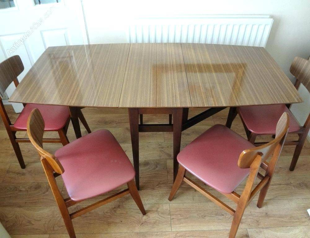 Astonishing Antiques Retro Dining Table Chairs Top Tables With Regard To Newest Retro Round Glasstop Dining Tables (#3 of 20)