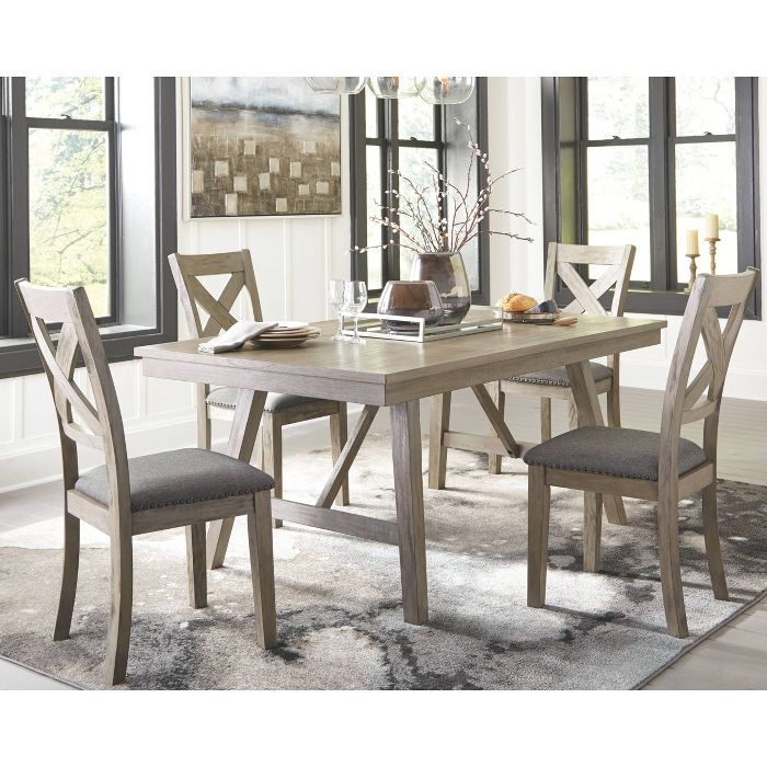 Atwood Transitional Rectangular Dining Tables Intended For Current Signature Designashley Aldwin Rectangular Dining Room (#8 of 20)