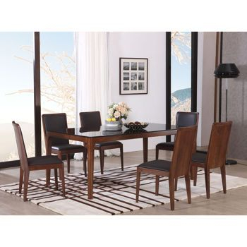 Atwood Transitional Square Dining Tables For Most Popular Handel 7 Piece Dining Set (View 10 of 21)