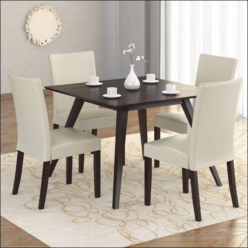Atwood Transitional Square Dining Tables With 2020 Atwood Transitional Square Dining Table – Rich Cappuccino (View 6 of 21)