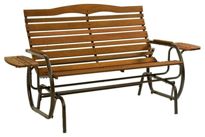 August Grove Purini Glider Bench | Products In 2019 In Iron Grove Slatted Glider Benches (View 3 of 20)