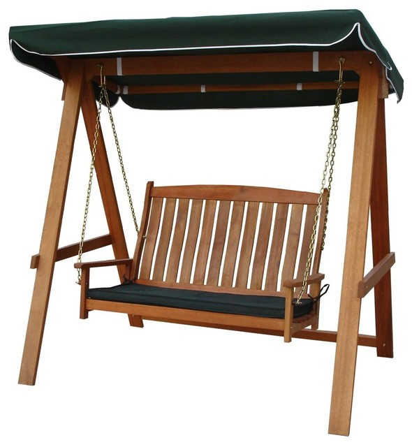 Avoca 2 Seat Porch Swing With 2 Person Hammered Bronze Iron Outdoor Swings (View 3 of 20)