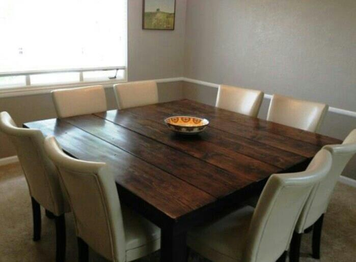 Awesome Square Dining Room Table For 8 Seat Kitchen You Ll Intended For Well Liked Contemporary 4 Seating Square Dining Tables (#5 of 20)