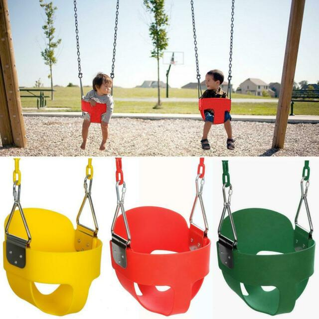 Popular Photo of 3 Person Red With Brown Powder Coated Frame Steel Outdoor Swings