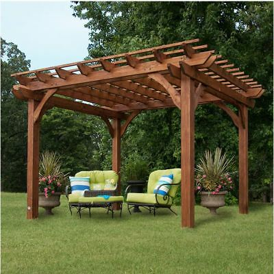 Backyard Discovery Patio Pergola Swing 3 Person Wood Frame For 3 Person Natural Cedar Wood Outdoor Swings (#5 of 20)