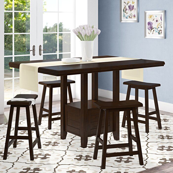 Bartons Bluff Drop Leaf Dining Table Regarding Most Up To Date Transitional 4 Seating Drop Leaf Casual Dining Tables (#3 of 20)
