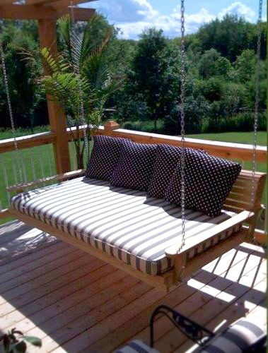 Beautiful Hanging Porch Beds | Hanging Porch Bed, Porch Bed Pertaining To Patio Hanging Porch Swings (#2 of 20)
