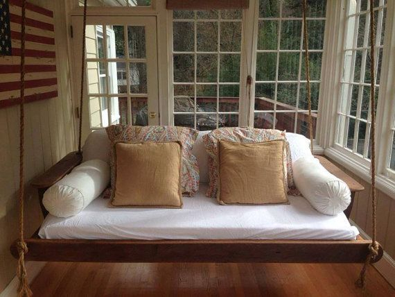Bed Swing, Porch Swing, Wooden Swinging Bed, Wooden Outdoor Pertaining To Day Bed Porch Swings (#5 of 20)