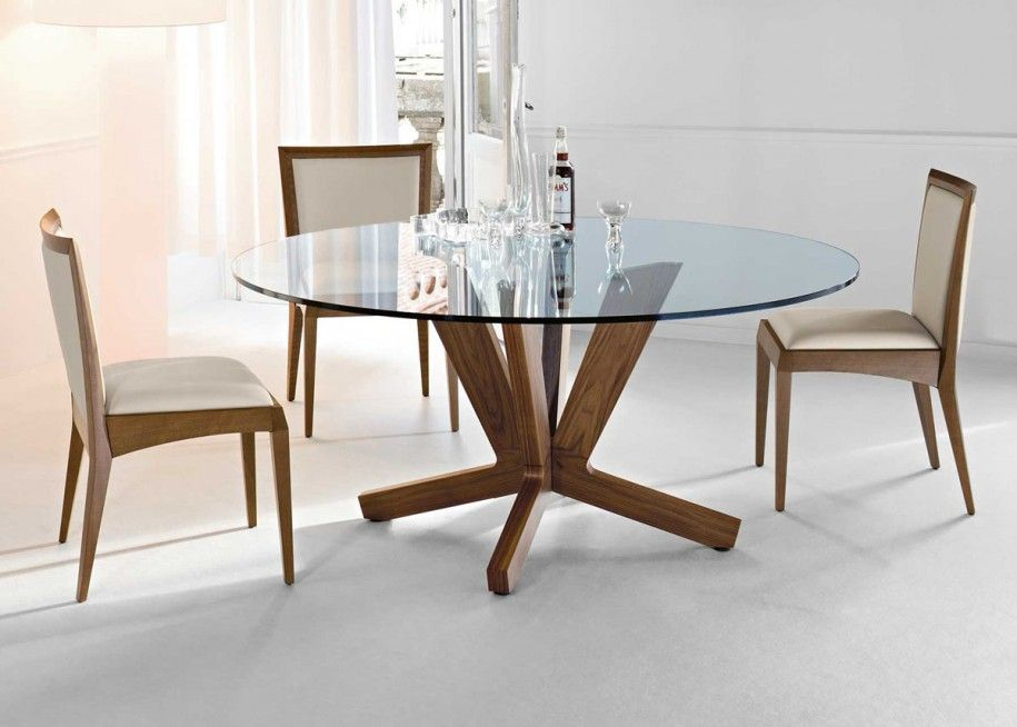 Best And Newest 20 Amazing Glass Top Dining Table Designs (#2 of 20)