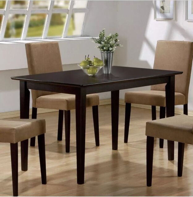 Best And Newest Coaster Hyde Rectangular Casual Dining Leg Dining Table In Cappuccino With Regard To Coaster Contemporary 6 Seating Rectangular Casual Dining Tables (View 6 of 20)