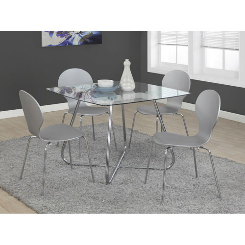 Best And Newest Contemporary 4 Seating Square Casual Dining Table – Chrome With Regard To Contemporary 4 Seating Square Dining Tables (#6 of 20)