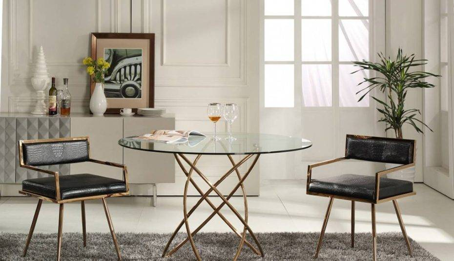 Best And Newest Elegance Small Round Dining Tables Pertaining To Marvellous Glass Round Dining Table Set Chairs And For Black (#3 of 20)