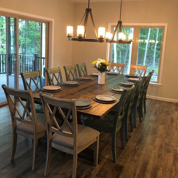 Best And Newest Large Farmhouse Table, Rustic Farm Table, Farmhouse Dining Regarding Large Rustic Look Dining Tables (View 2 of 20)