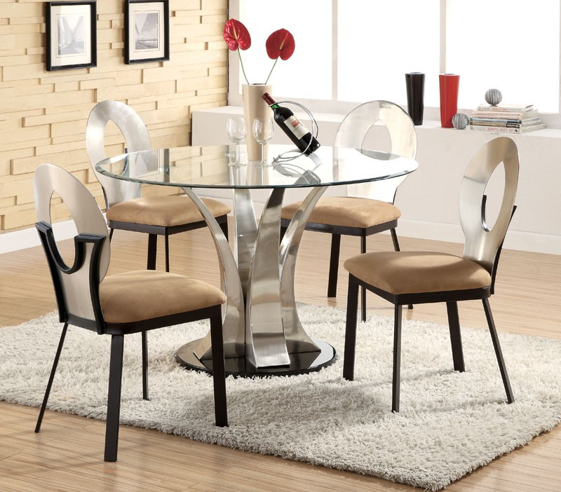 Best And Newest Modern Round Dining Table Set — Liberty Decoration From Within Modern Round Glass Top Dining Tables (#3 of 20)