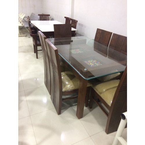 Best And Newest Solid Wood 6 Seater Dining Table Inside 6 Seater Retangular Wood Contemporary Dining Tables (View 4 of 20)