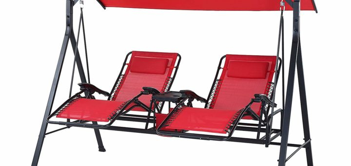 Best Outdoor Reclining Zero Gravity Swing [2020 Update Within Patio Loveseat Canopy Hammock Porch Swings With Stand (View 10 of 20)