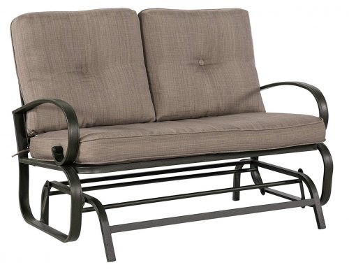 Best Patio Swings In 2020 Review Regarding 2 Person Loveseat Chair Patio Porch Swings With Rocker (View 15 of 20)