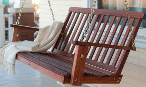 Best Porch Swing Chairs Reviews And Buyers Guide For 2 Person Light Teak Oil Wood Outdoor Swings (View 11 of 20)