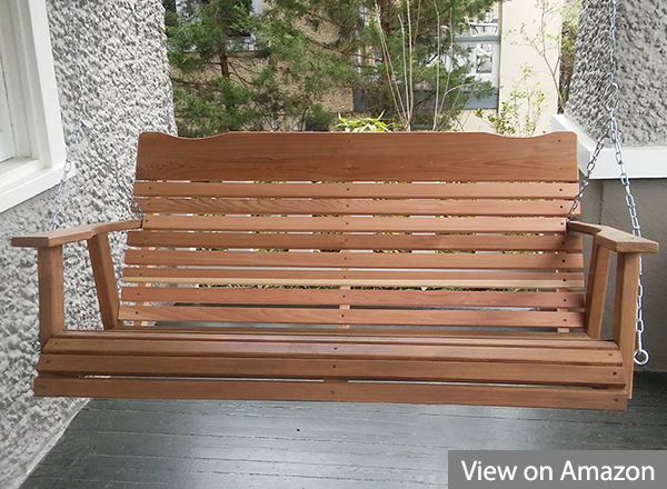 Best Porch Swing Chairs Reviews And Buyers Guide With 3 Person Natural Cedar Wood Outdoor Swings (#7 of 20)