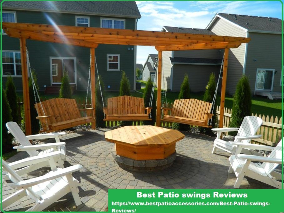 Best Porch Swing Reviews | Comfortable And Luxurious Patio Intended For 3 Person Natural Cedar Wood Outdoor Swings (#8 of 20)