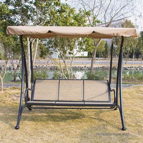 Bestmart Inc Outdoor 3 Person Canopy Swing Glider Hammock With Regard To Patio Glider Hammock Porch Swings (#2 of 20)