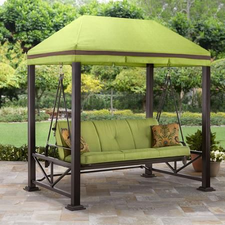 Popular Photo of Patio Gazebo Porch Swings