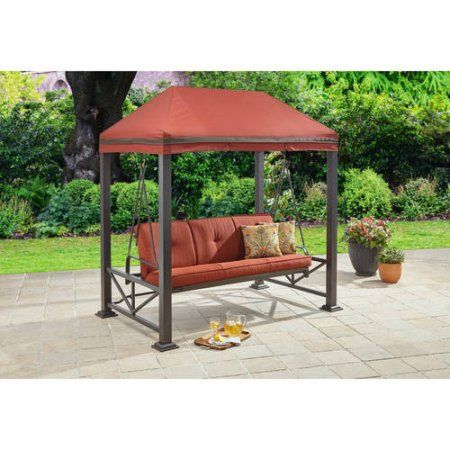 Better Homes And Gardens Sullivan Pointe 3 Person Outdoor Inside 3 Seat Pergola Swings (View 7 of 20)