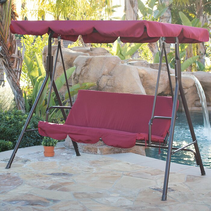 Brack Canopy Porch Swing With Stand For Porch Swings With Canopy (#2 of 20)